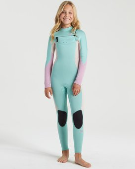 Synergy 4/3mm GBS - Chest Zip Wetsuit for Girls  U44B30BIF0