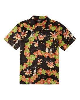 Sundays Floral Grinch - Woven Top for Boys  V2SH12BIW0