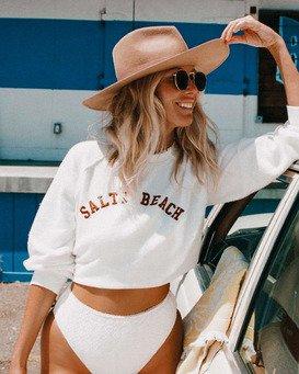 Salty Blonde Worn Right - Recycled Sweatshirt for Women  W3FL01BIP1