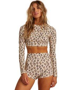 Sweet Sands - Long Sleeve UPF 50 Cropped Rash Vest for Women  W3GY04BIP1