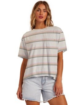 Beach Stripes - Boyfriend T-Shirt for Women  W3KT40BIP1