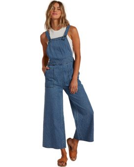 Paint By Numbers Stripe - Denim Dungarees for Women  W3PT15BIP1