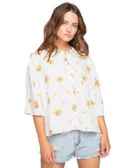 Isa Island - Oversized Short Sleeve Shirt for Women  W3TP03BIP1