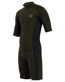2/2mm Absolute - Short Sleeve Back Zip Springsuit for Boys  W42B51BIP1