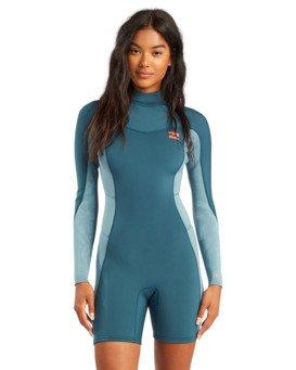 2/2mm Synergy - Long Sleeve Back Zip Springsuit for Women  W42G58BIP1
