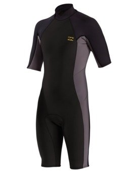 2/2mm Absolute - Short Sleeve Back Zip Springsuit for Men  W42M72BIP1
