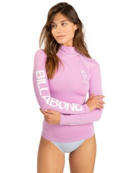 Logo - Long Sleeve UPF 50 Rash Vest for Women  W4GY50BIP1