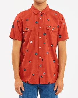 Wrangler Distant Land - Short Sleeve Shirt for Men  Z1SH30BIF1