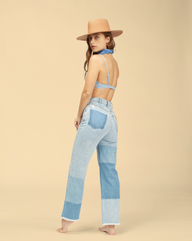 Wrangler Patch It Up - High Waisted Jeans for Women  Z3PN07BIF1