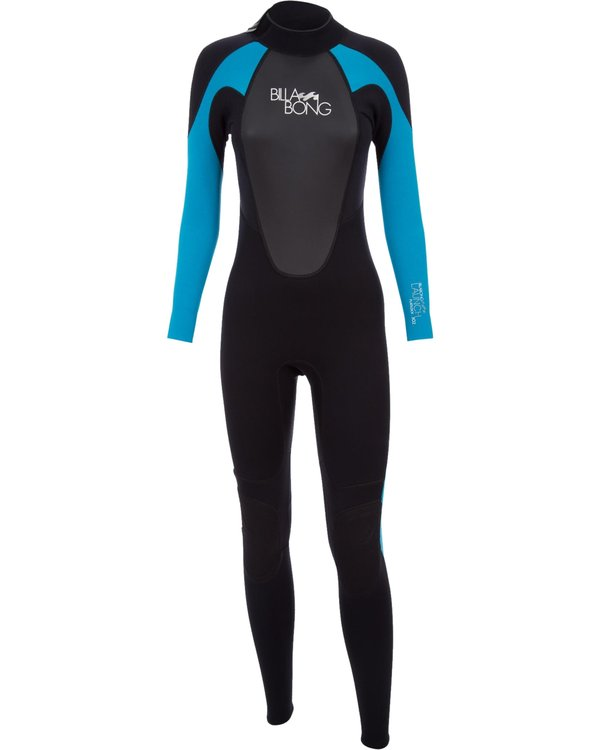 0 3/2 Launch Series Back Zip Fullsuit 	 Schwarz 043G01BIPP Billabong