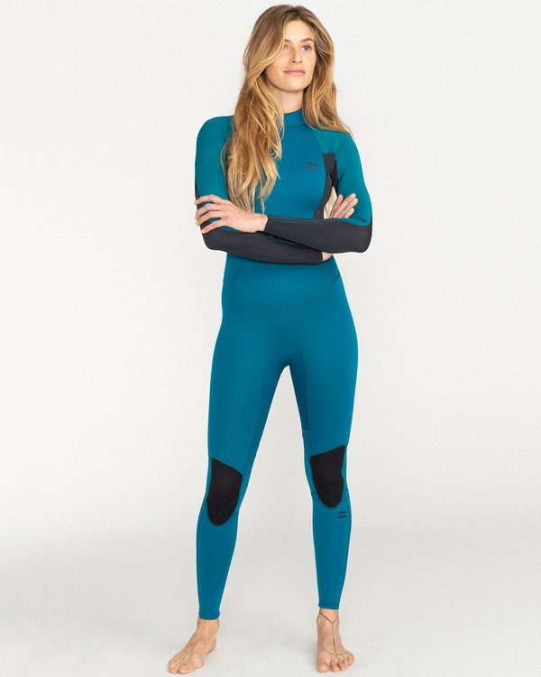 0 Launch 4/3mm Launch Bz GBS - Back Zip Wetsuit for Women Blue 044G18BIP0 Billabong
