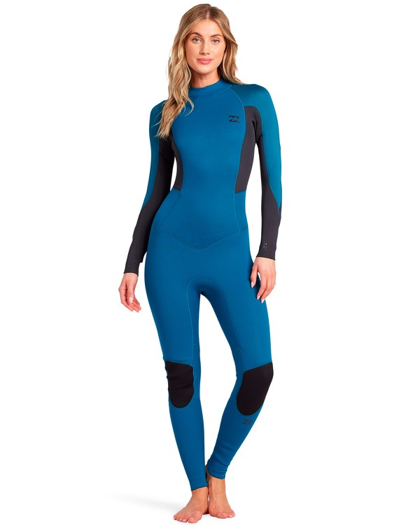 0 Launch 5/4mm Launch Bz GBS - Back Zip Wetsuit for Women Blue 045G18BIP0 Billabong