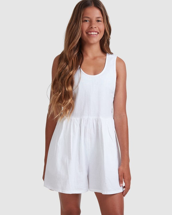0 Girls 6-14 Cabarita Playsuit White 5504622 Billabong