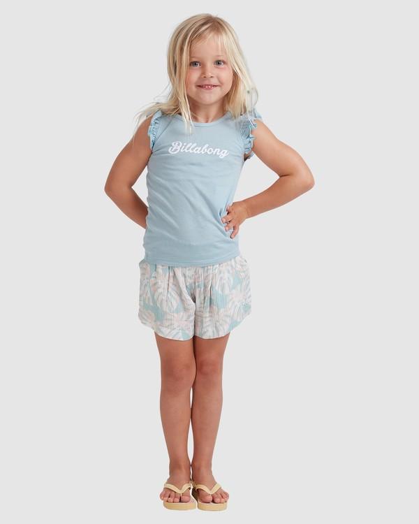 0 Girls 0-5 Shady Palms Shorts Blue 5513343 Billabong