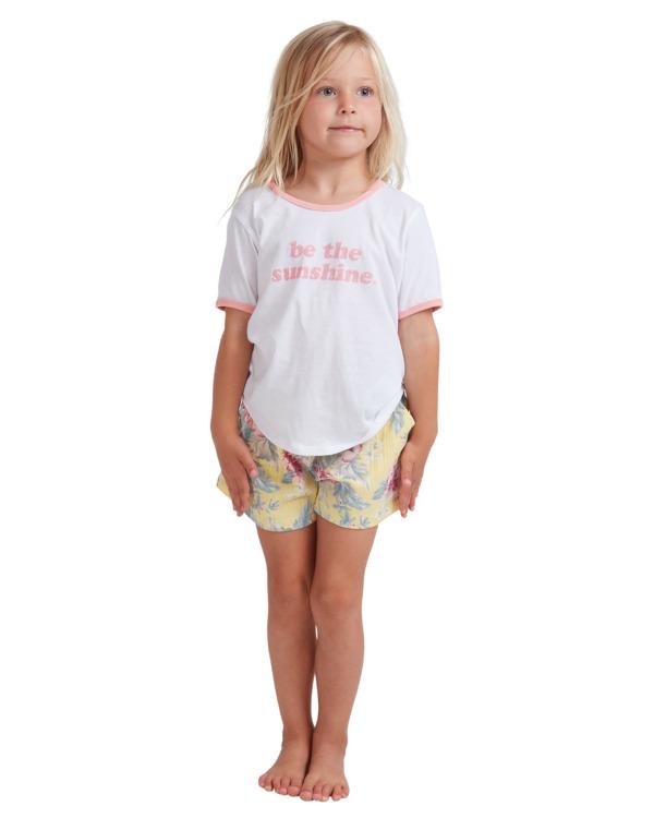 0 Girls 0-5 Island Dream Shorts Yellow 5513344 Billabong