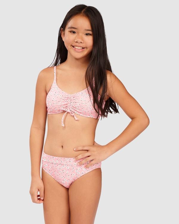 0 Girls' Feelin Ditsy Drawstring Tank Bikini Set  5513716 Billabong