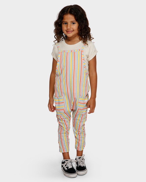 0 Girls Tutti Fruitti Overalls White 5591504 Billabong
