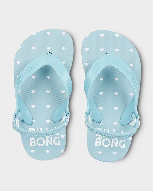 0 GIRLS LITTLE HEART THONGS Blue 5691801 Billabong