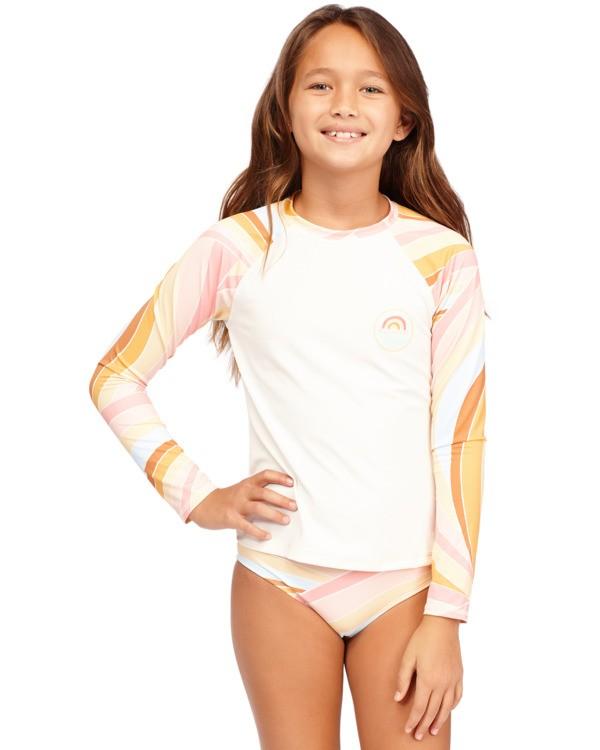 0 Girls 6-14 Sea Of Gold Rash Vest Grey 5713001 Billabong