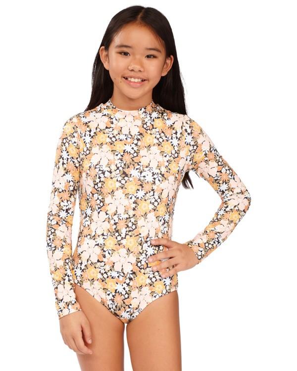 0 Girls 6-14 Sweet Dreams One Piece Bodysuit Grey 5713006 Billabong