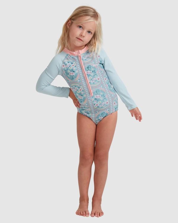0 Girls 0-5 Lil Folk One Piece Bodysuit Blue 5713011 Billabong