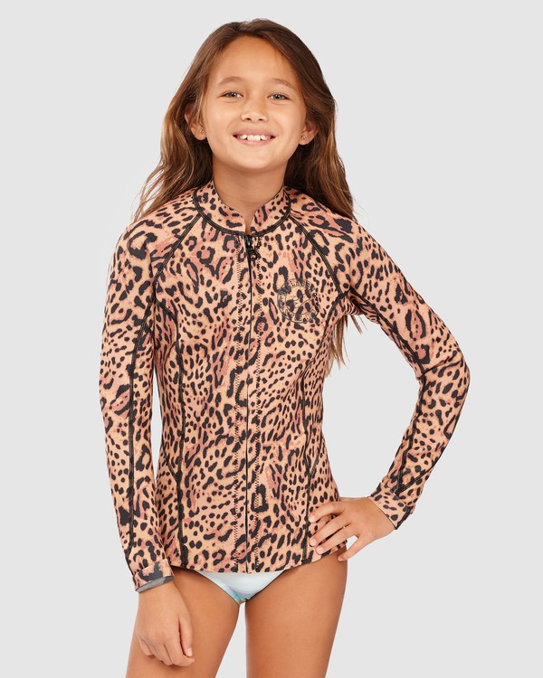 0 Girls 8-14 Peeky Wetsuit Jacket Brown 5713101 Billabong