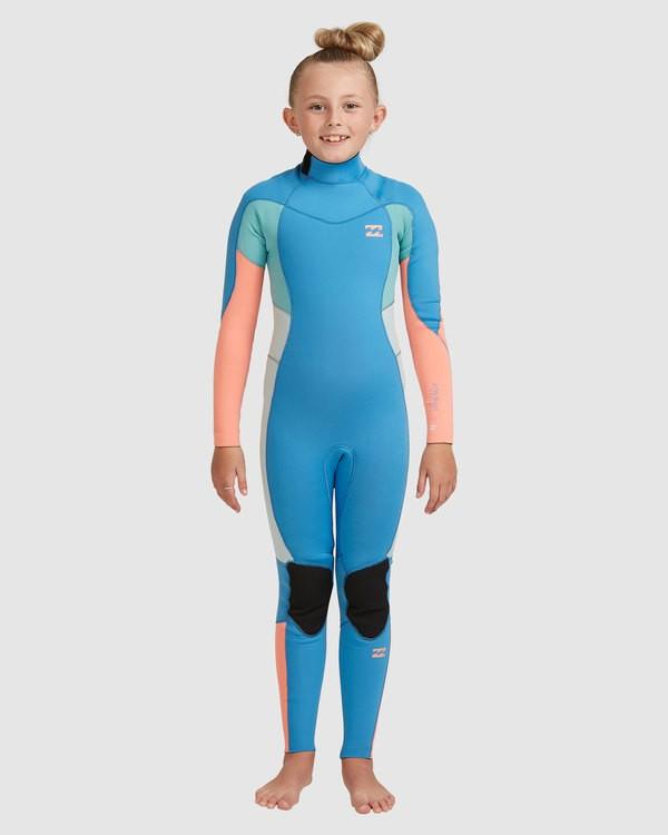0 Teen 3/2 Synergy Back Zip Gbs Fullsuit Blue 5717810 Billabong