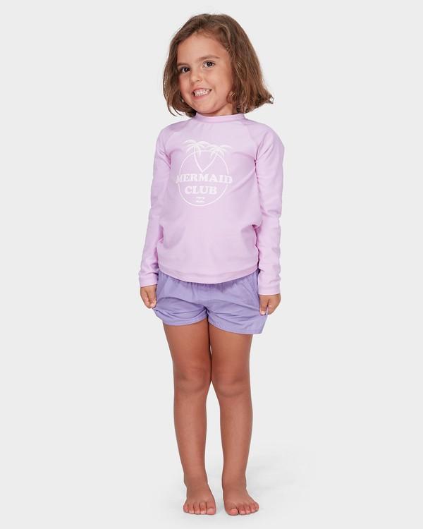 0 GIRLS PARADISE COVE RASH GUARD Purple 5782006 Billabong