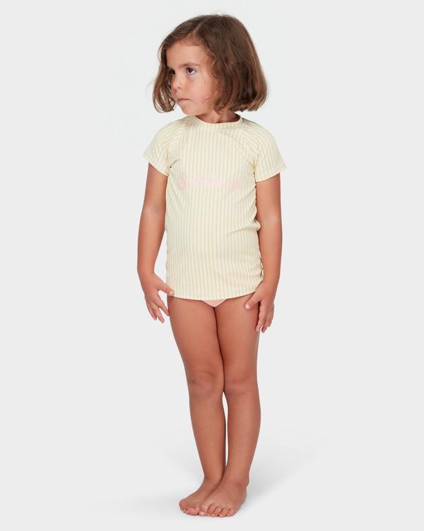 0 GIRLS SOLEIL STRIPE RASH GUARD SET Yellow 5782008 Billabong