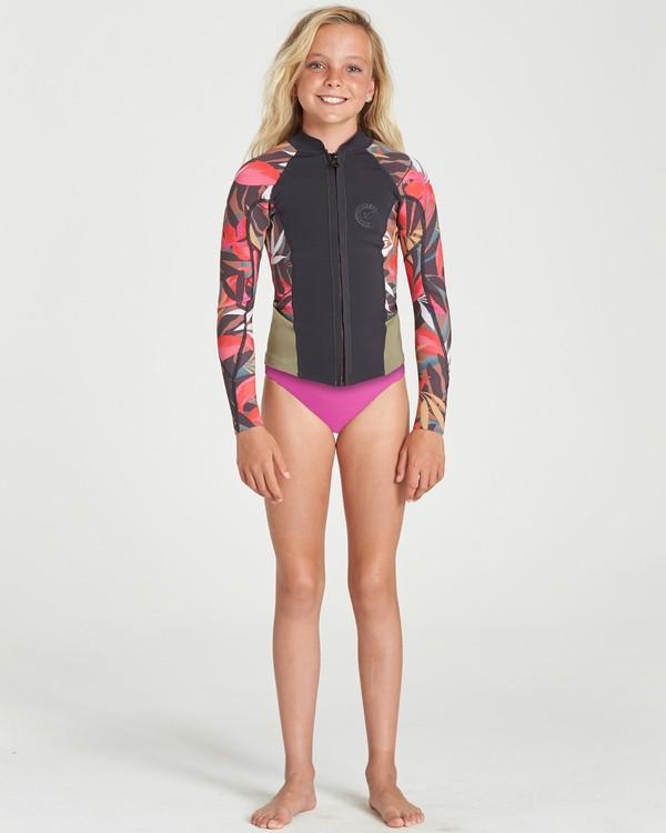 0 Teen Peeky Ls 1Mm Front Zip Jacket Multicolor 5791120 Billabong