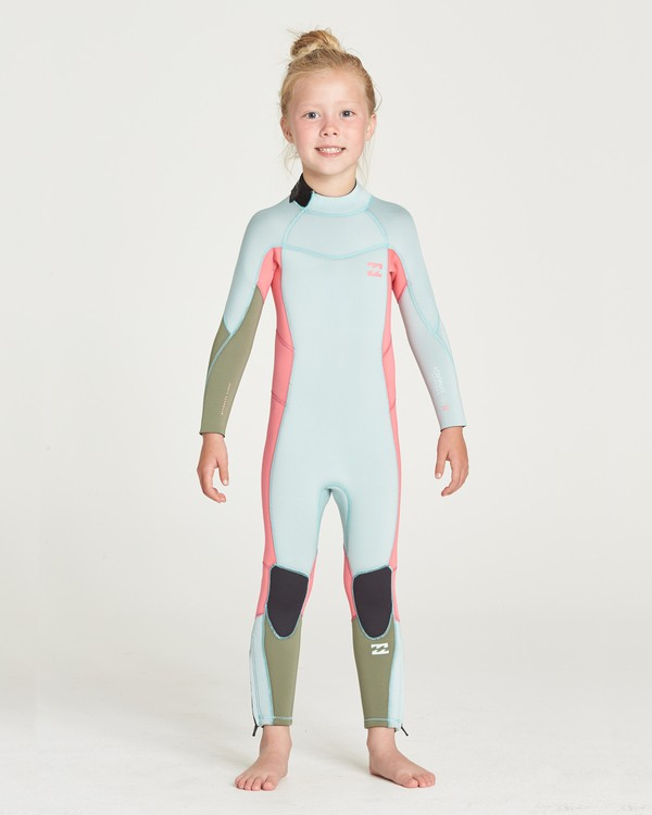 0 GIRLS 302 SYNERGY BACK ZIP FULLSUIT Blue 5795701 Billabong