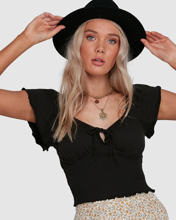 0 Secret Spot Top Black 6503175 Billabong