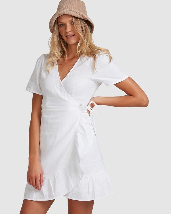 0 Crosshatch Wrap Dress White 6503494 Billabong