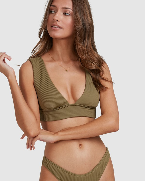 0 Sand Dunes Plunge Bikini Top Green 6503865 Billabong