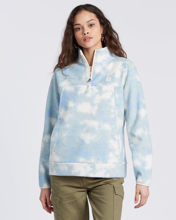 0 Boundary Mock Half Zip Fleece Blue 6504209 Billabong