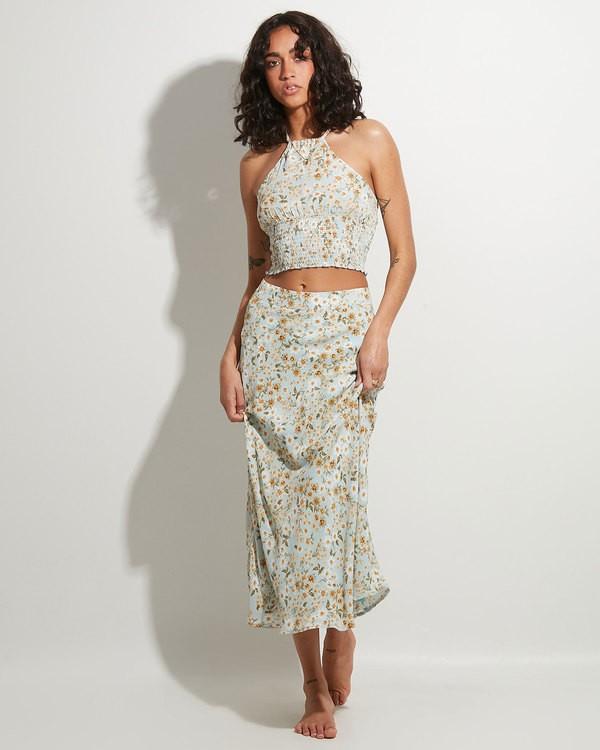 0 Del Mar Midi Skirt Blue 6504323 Billabong