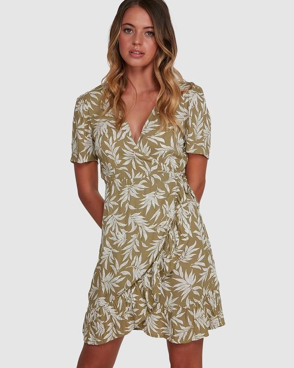 0 Lei Lei Wrap Dress Green 6504477 Billabong