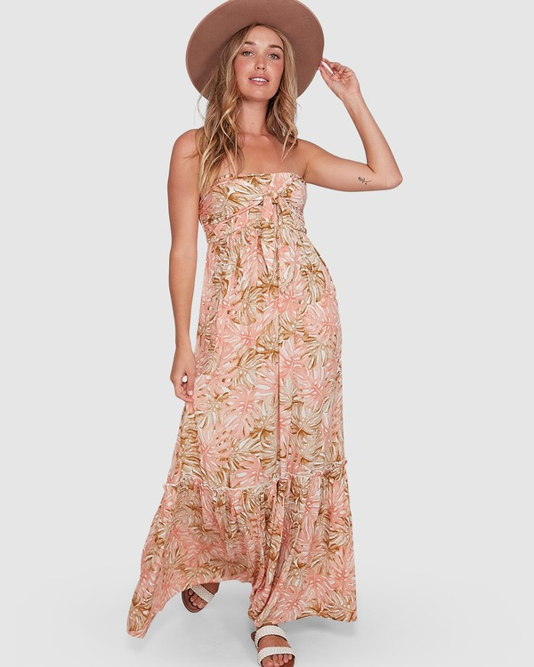 0 Hula Palms Atlantis Maxi Dress Beige 6504485 Billabong