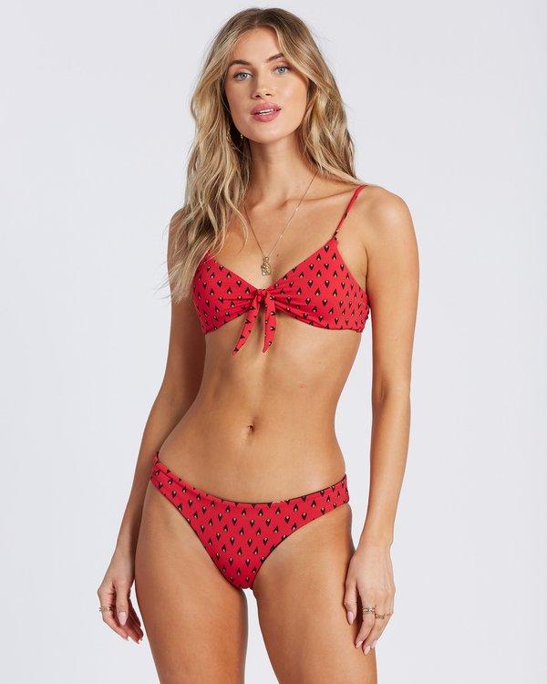 0 Falling Light Knotted Trilet Bikini Top Red 6504887 Billabong