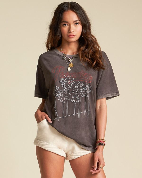 0 Poster Child Tee - Sincerely Jules Collection Black 6507014M Billabong