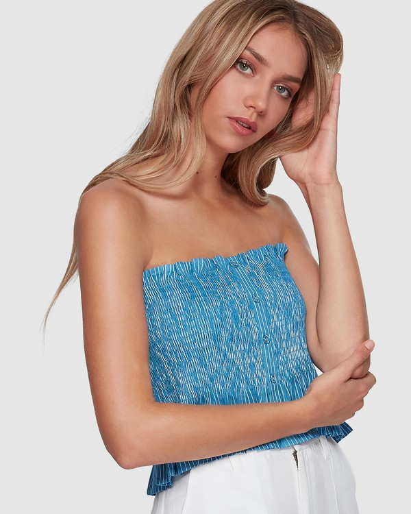 0 Well Grounded Top Blue 6507114 Billabong