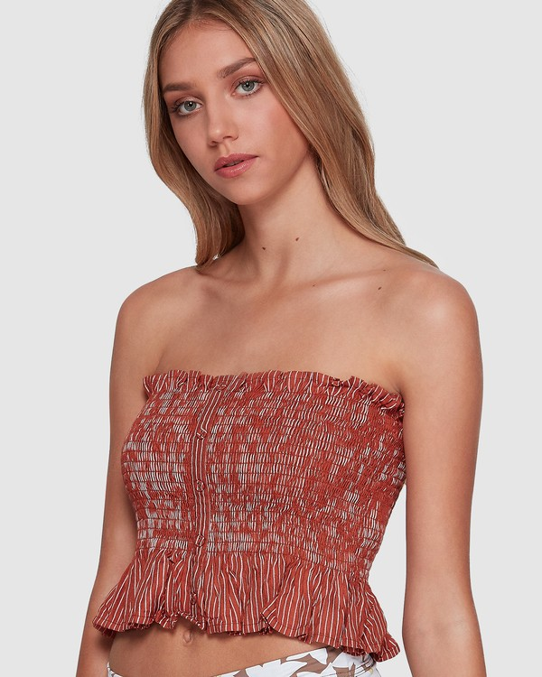 0 Well Grounded Top Brown 6507114 Billabong