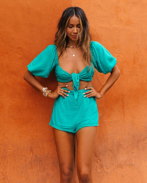 0 Amaze The Day Top - Sincerely Jules Collection Green 6507125M Billabong