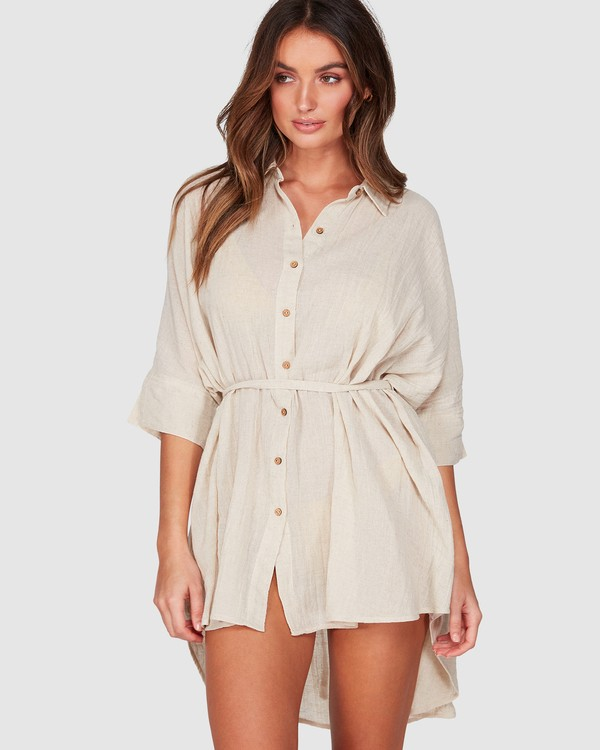 0 So Surreal Shirt Dress Beige 6507153 Billabong