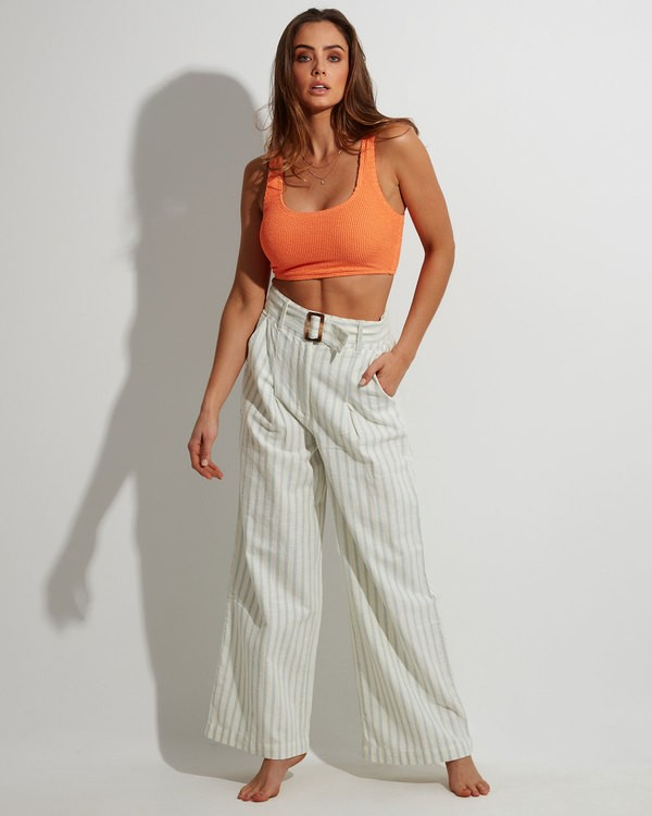 0 Blue Ray Belted Pant Beige 6507401 Billabong