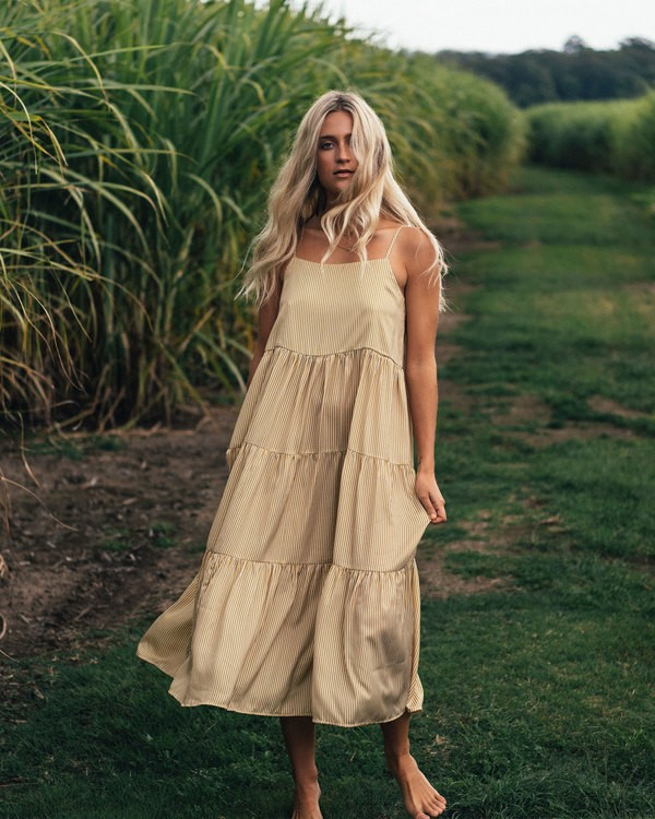 0 Lost Love Maxi Dress Yellow 6507478 Billabong