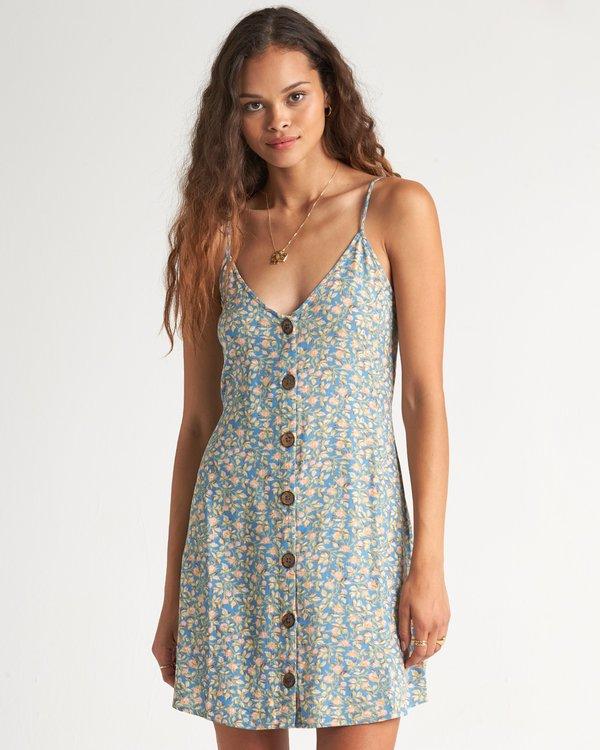 0 Sweet For Ya Dress Blue 6507494X Billabong