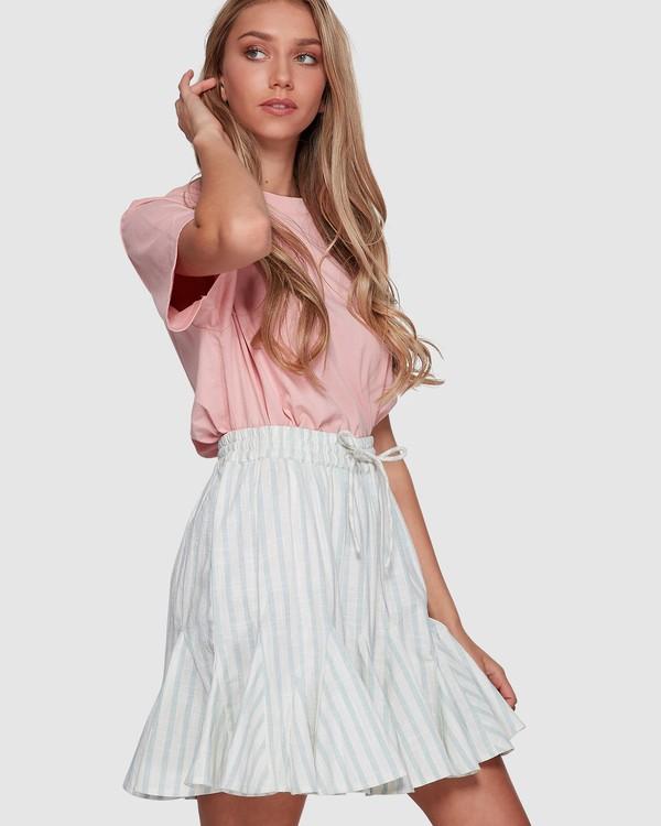 0 Blue Ray Skirt Beige 6507523 Billabong