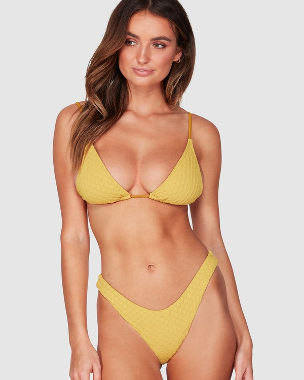 0 Lovelock Long Tri Bikini Top Yellow 6507575 Billabong