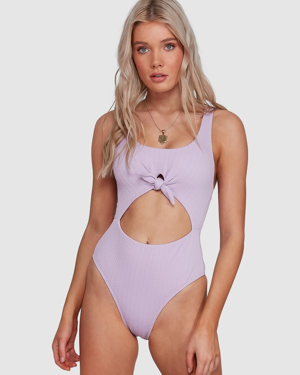 0 Braid Rib One Piece Purple 6507677M Billabong